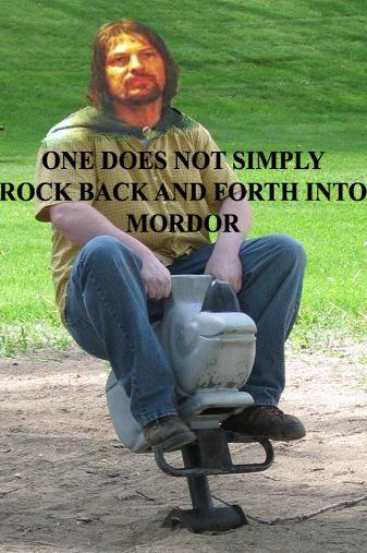 rock back forth mordor