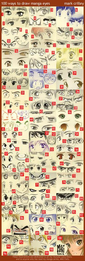 100 Ways to Draw Manga Eyes - Mark Crilley