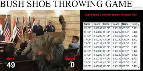 Bush Shoe Throwing Game