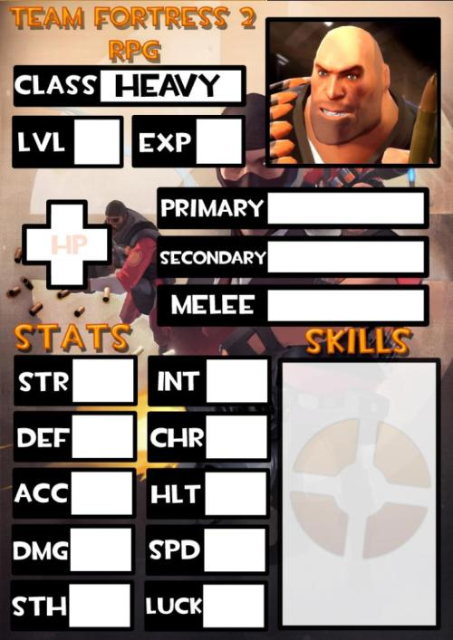 Heavy Weapons Guy Character Sheet